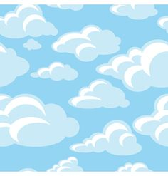 Clipart blue sky and cloud background.