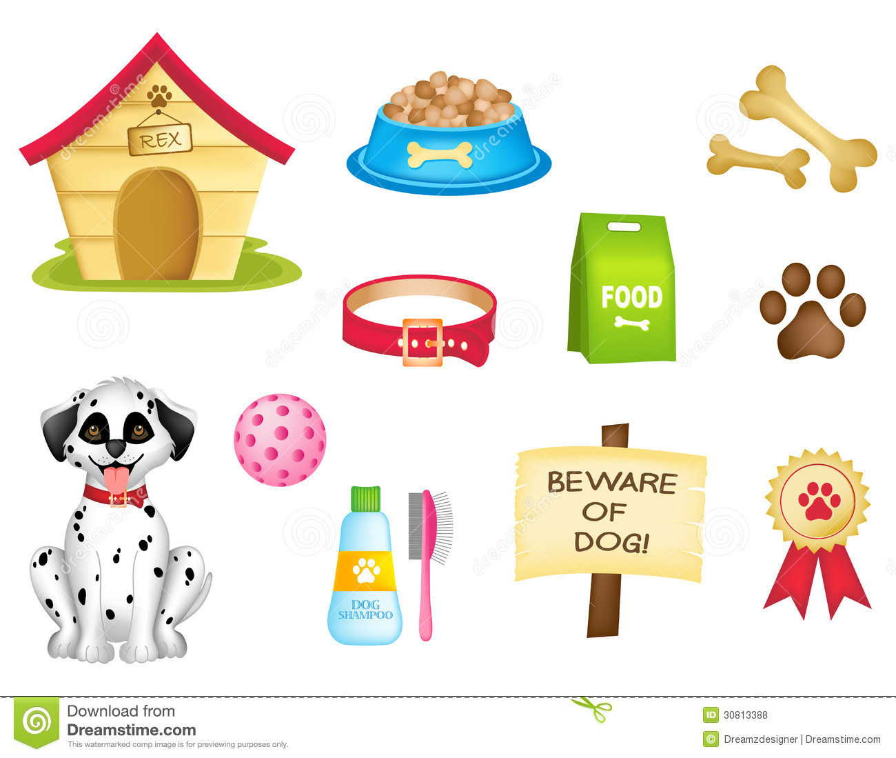 Dog Icons / Clipart Collection Royalty Free Stock Photos.