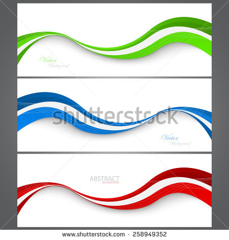 Collection Banners Modern Wave Design. Colorful Background. Vector.