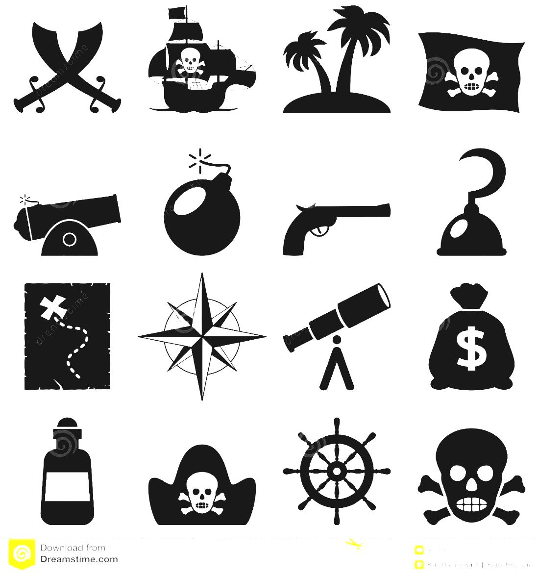White Illustrations Black And Background Isolated Stock Vectors.