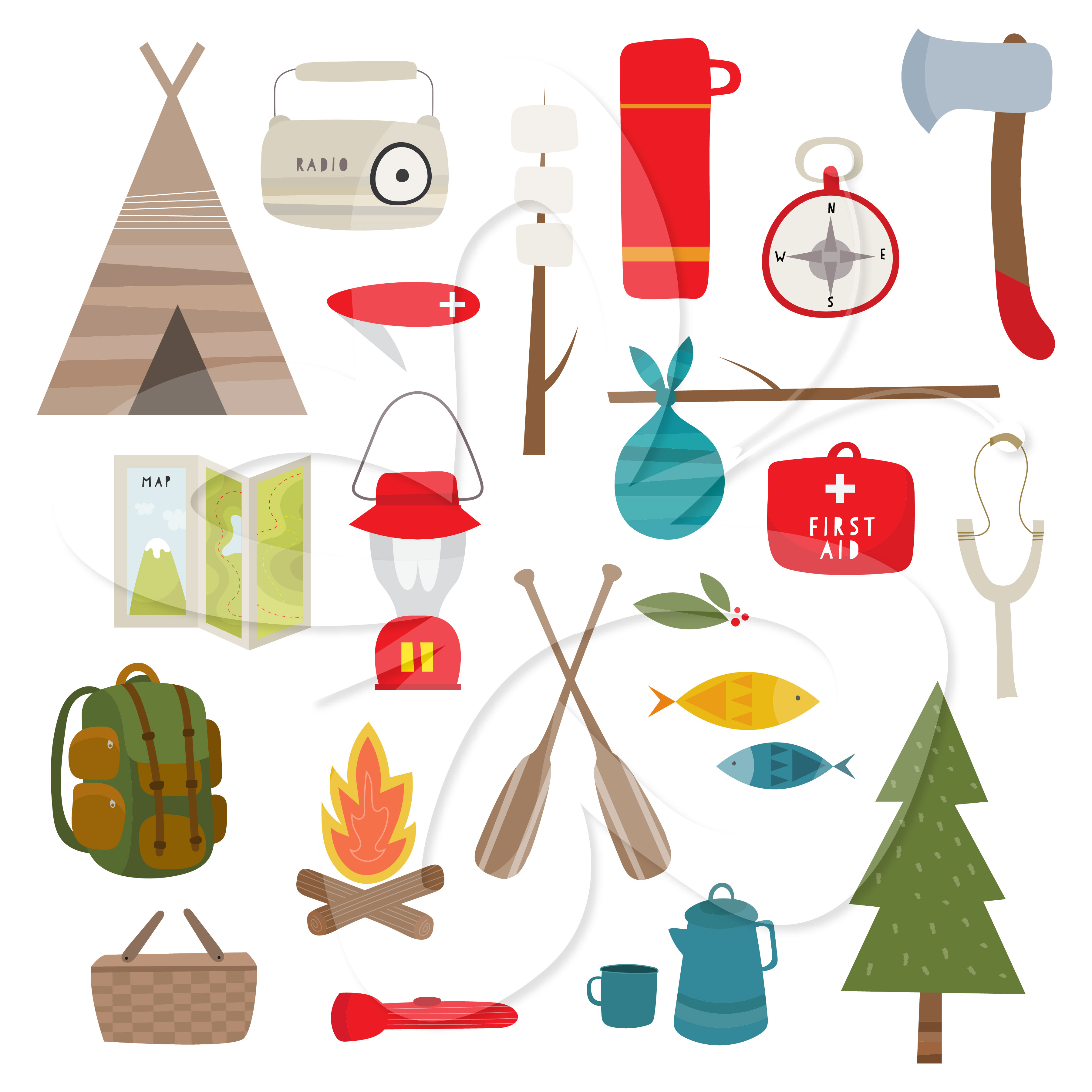 Camping Background Clipart.