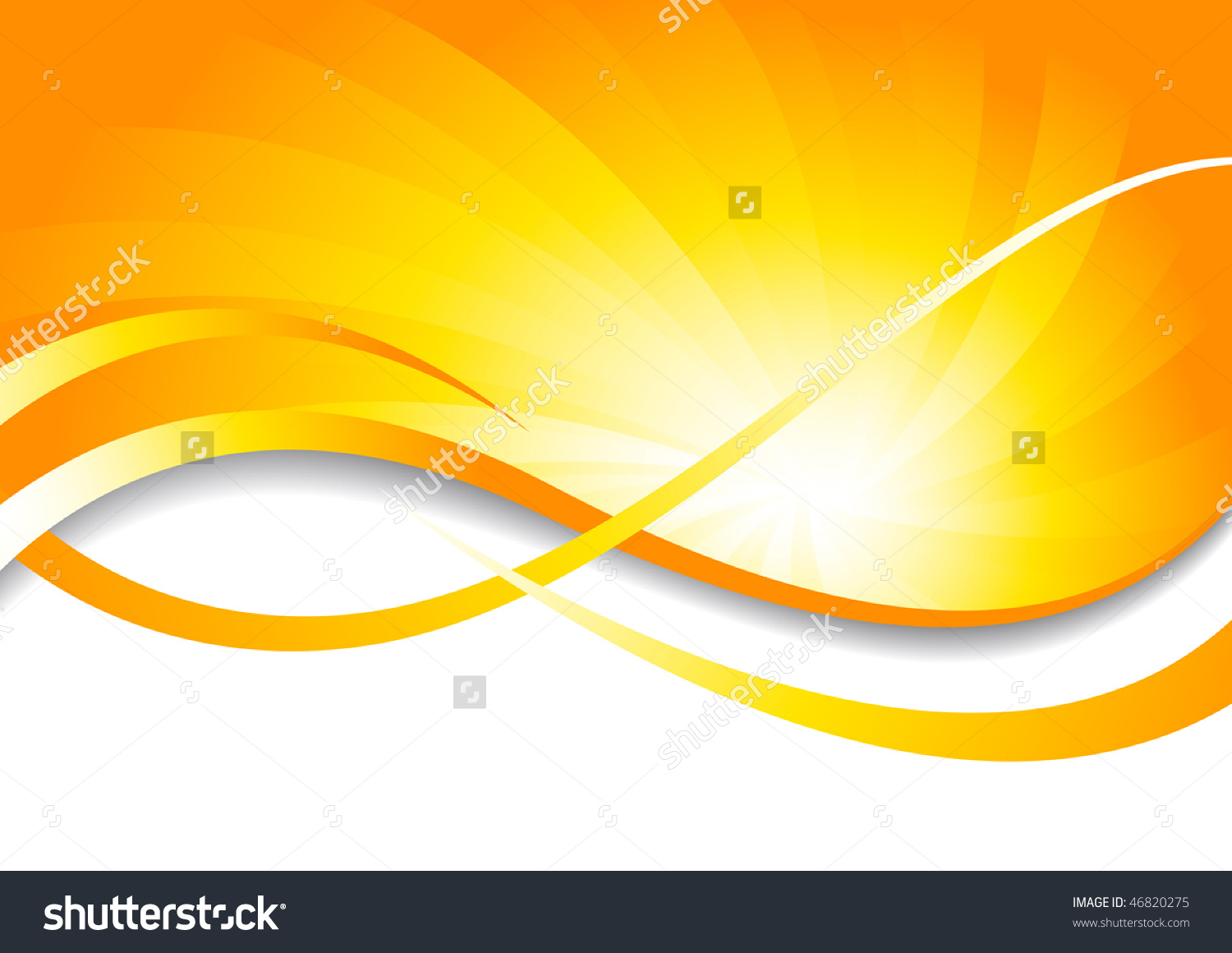 Vector Bright Background Yellow Color Clipart Stock Vector.