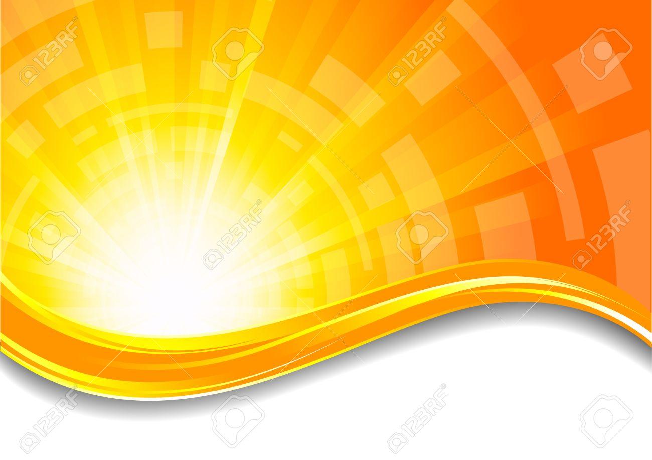 Background In Orange Color; Clip.