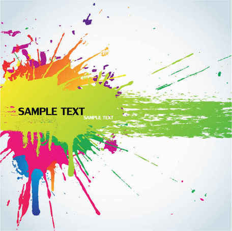 Color splash background, free vectors.