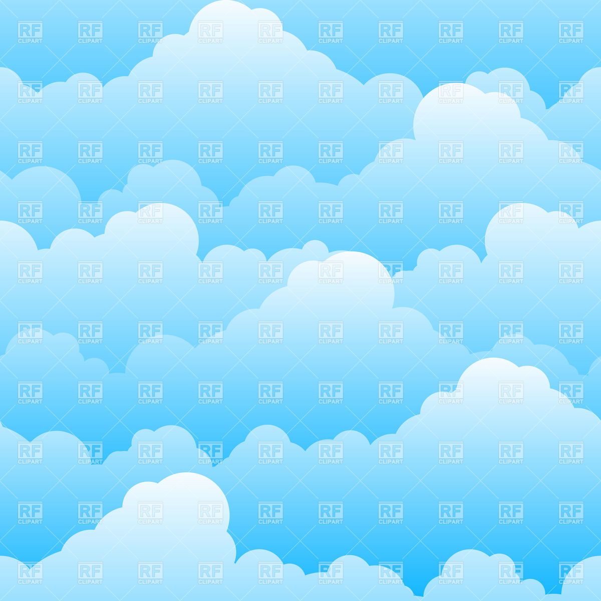 Cartoon Sky Background Clipart.