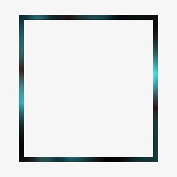 Simple Square Frame, Frame Clipart, Creative Borders, Blue.