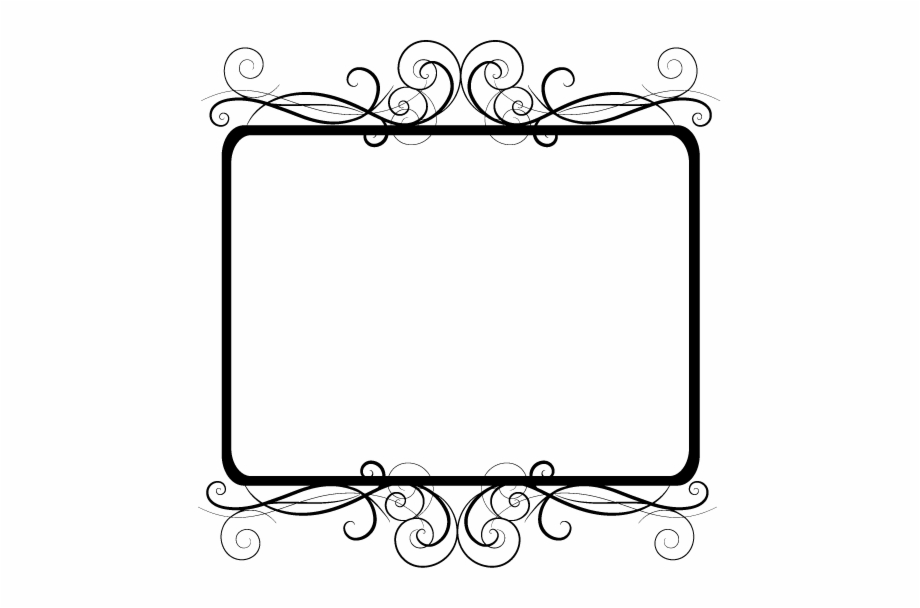 frame #border #edging #decoration #fancy #curly #black.