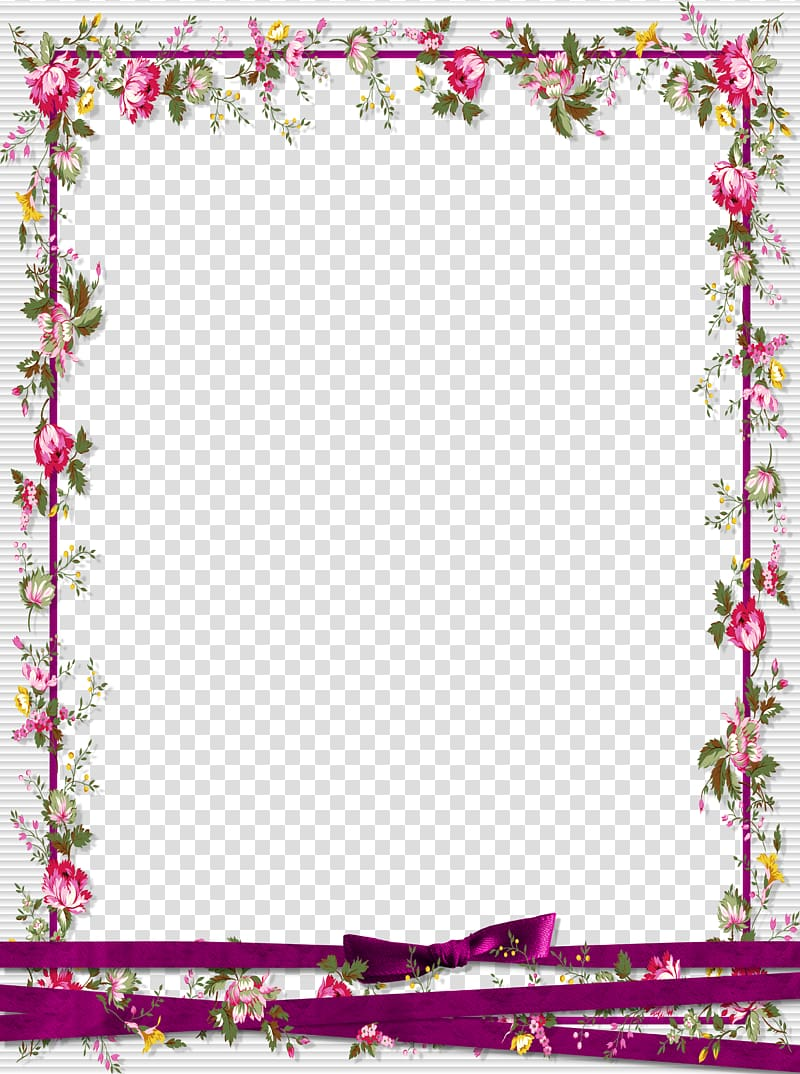 Pink and green floral background, frame Graphic design.