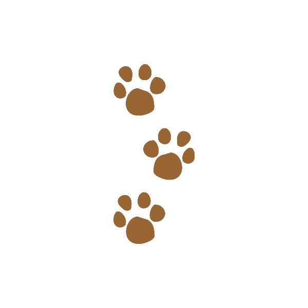Pet Paw Prints Clip Art, Muddy Animal Tracks Graphic.