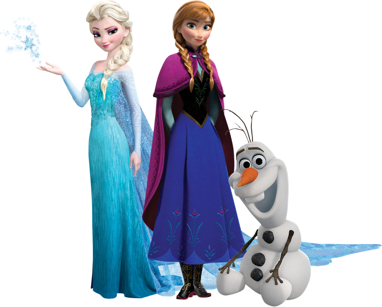 Frozen Transparent Background Clipart Images Black and White.
