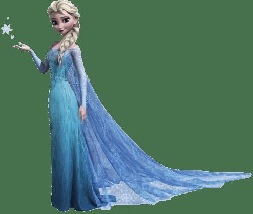 Elsa Frozen Character no background.