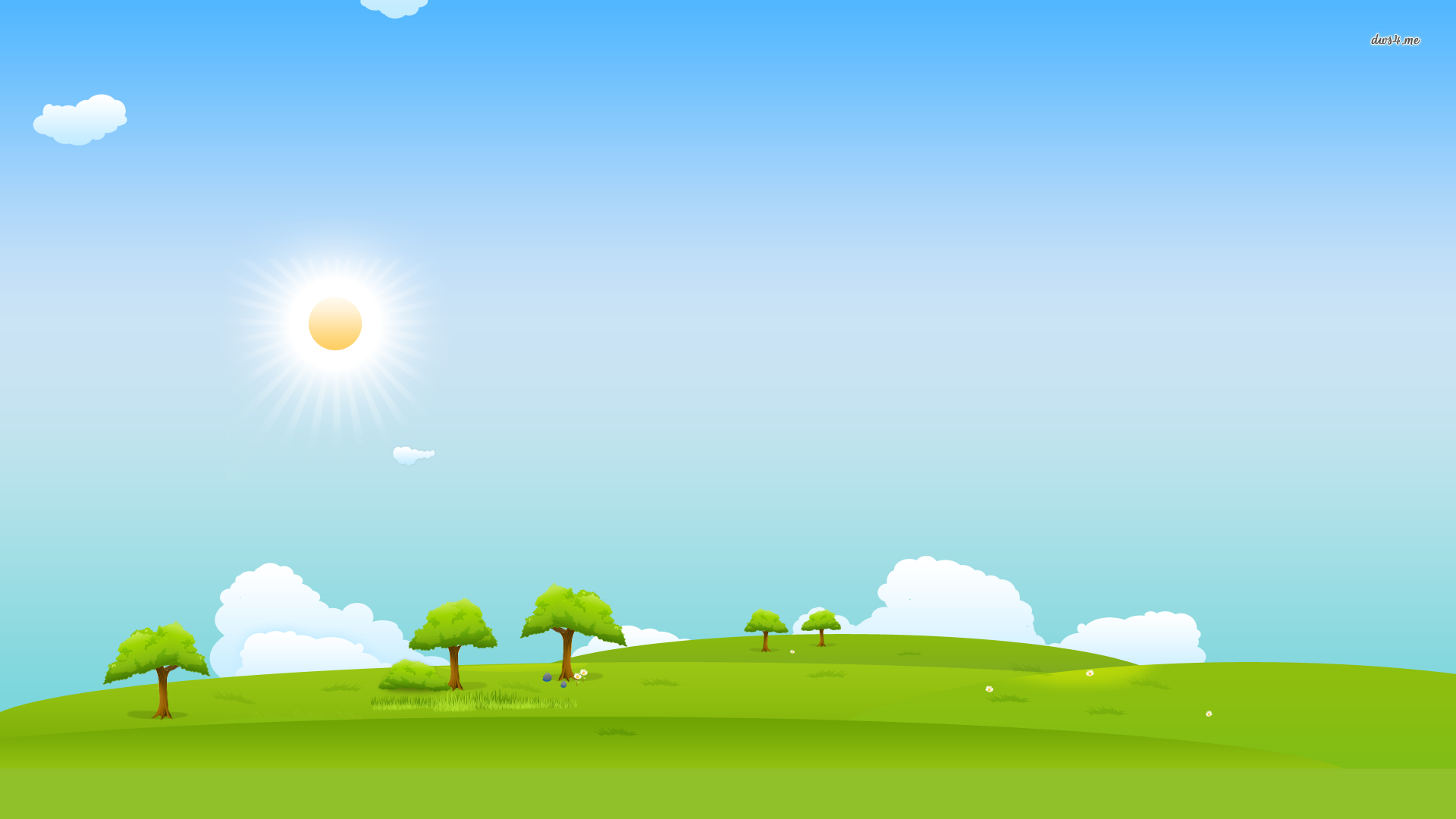 Grass And Sky Vector Wallpapers Widescreen On Wallpaper.