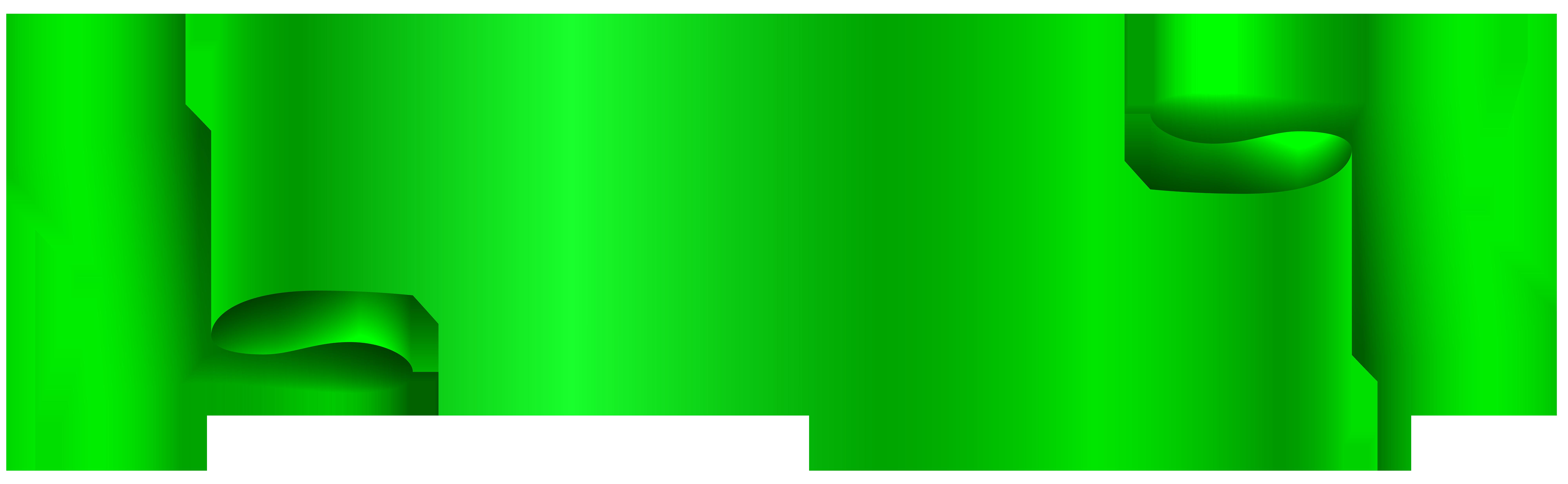 Banner Green Clip art.