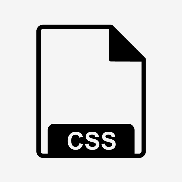 Vector CSS Icon, File, Format, File Format PNG and Vector with.