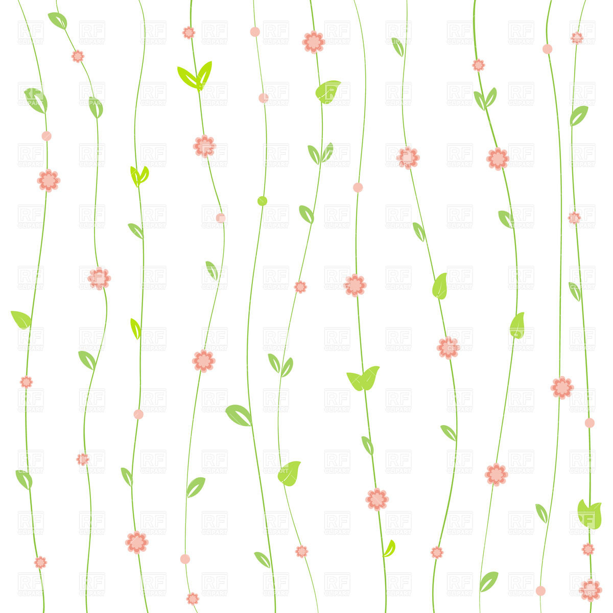 Floral Background Clipart.