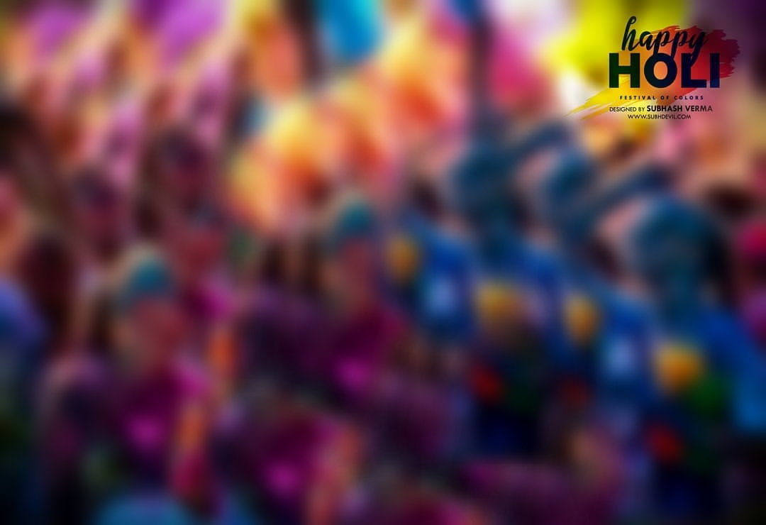 Happy Holi FREE Background PNG Download.