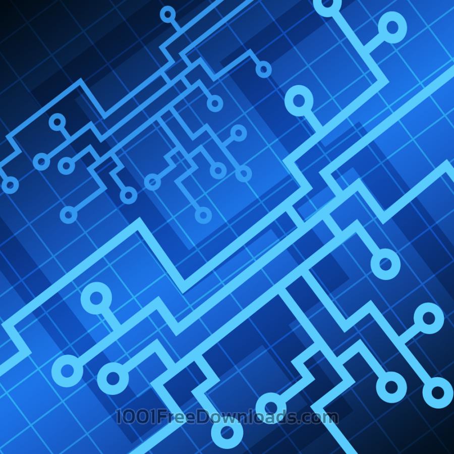 Free Vectors: Vector Tech background.