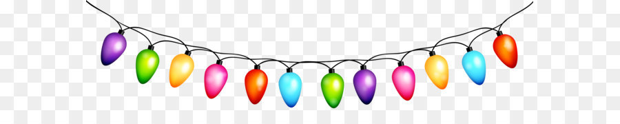 Free Christmas Lights Clipart Transparent Background.
