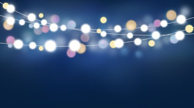 Night Lights, Light Effect, Lights, Christmas PNG Transparent Image.