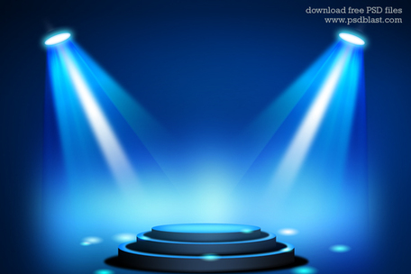 Stage lights background clipart.