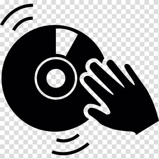 CD symbol, Disc jockey Remix Icon, DJ transparent background.