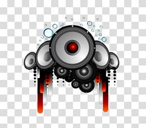 CD symbol, Disc jockey Remix Icon, DJ transparent background PNG.