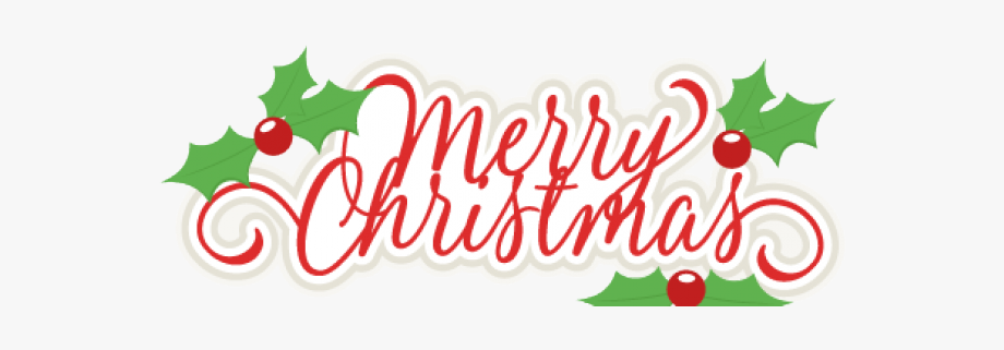 Transparent Background Merry Christmas Clipart, Cliparts.