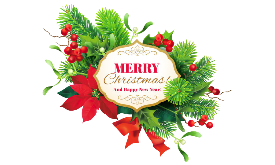 Merry Christmas PNG Photo Background.