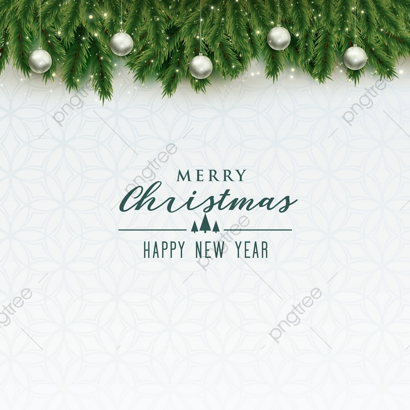 Elegant Merry Christmas Background With Balls, Christmas, Background.