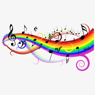 freetoedit #rainbow #colorful #music #notes #background.