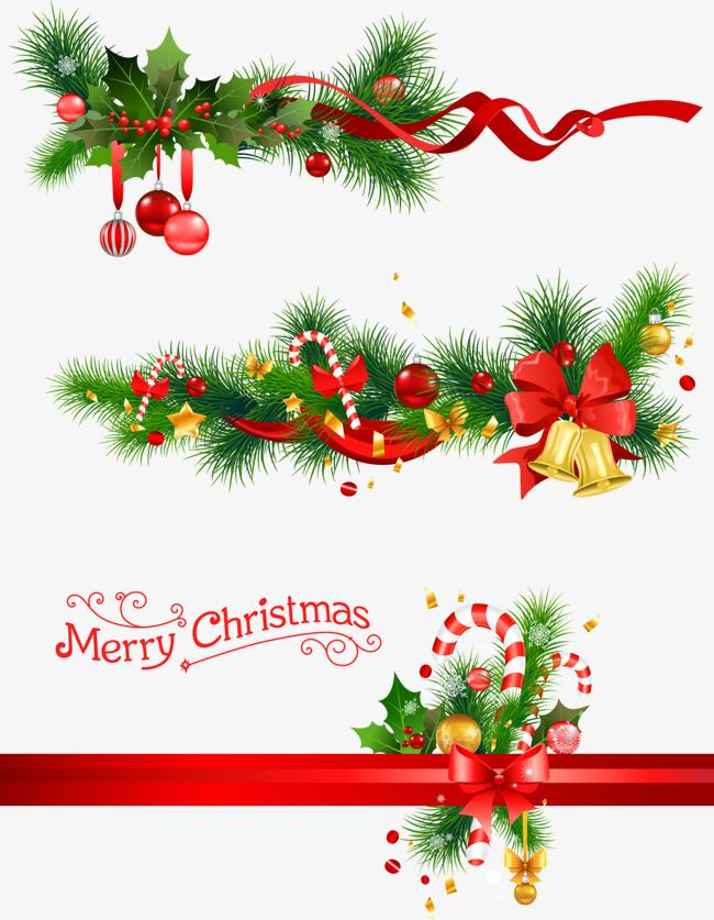 Christmas Bells And Pine Branches, Vector, Pine PNG.