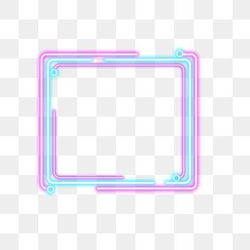 Simple Color Neon Border, Simple, Color, Neon PNG.