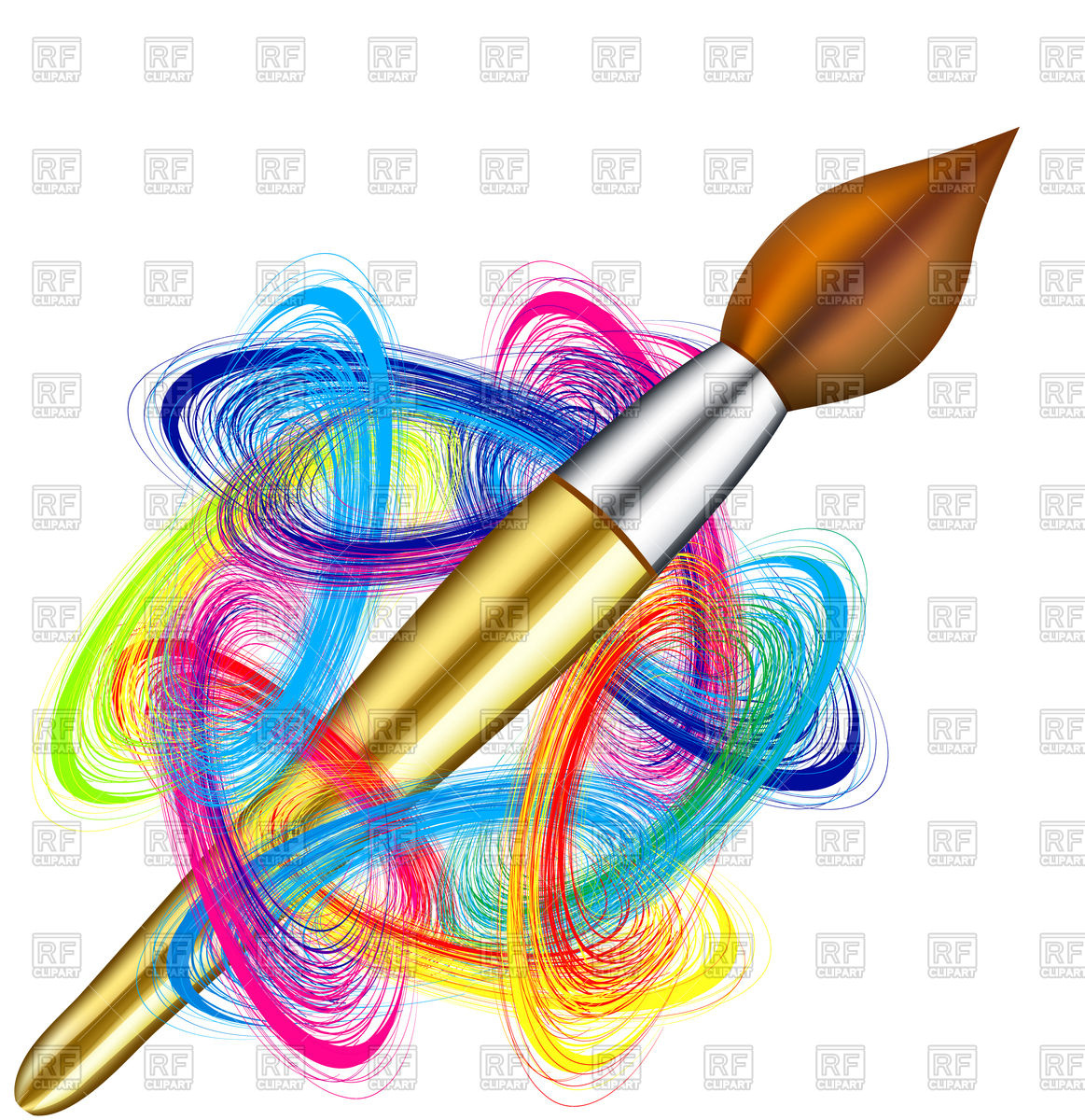 Painting brush background Vector Image #73796.