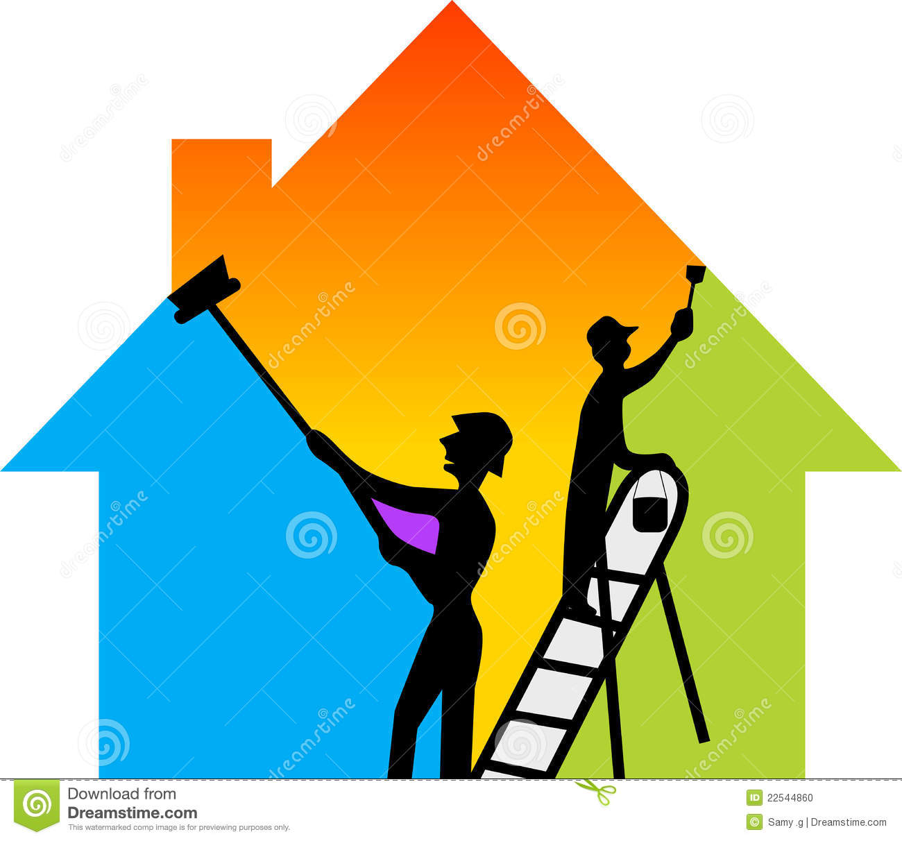Construction Painting Clipart.