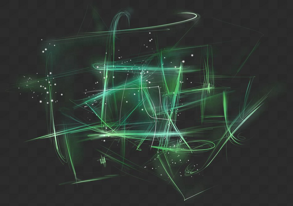 Abstract light, PNG, PSD, light effect with transparent background.