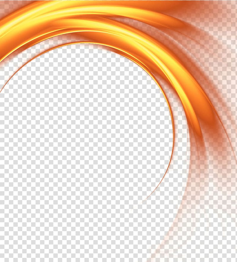 Golden rotating light effect transparent background PNG clipart.