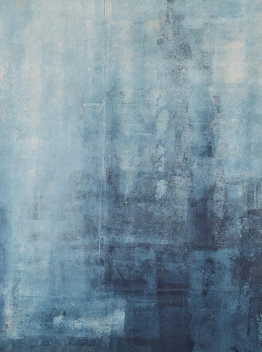 Blue graphics.