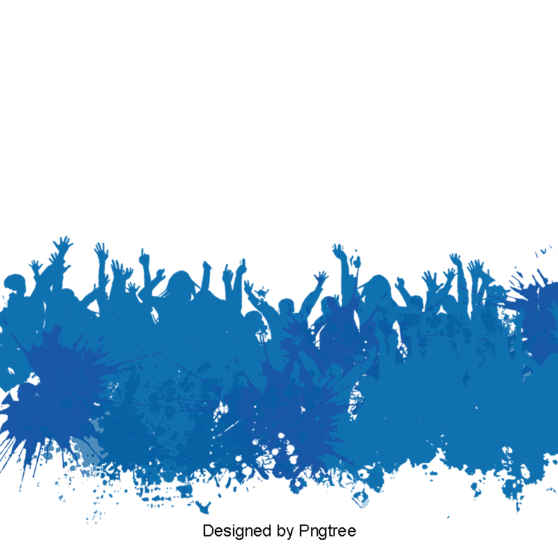 People Blue Watercolor Poster Background Material, Watercolor.