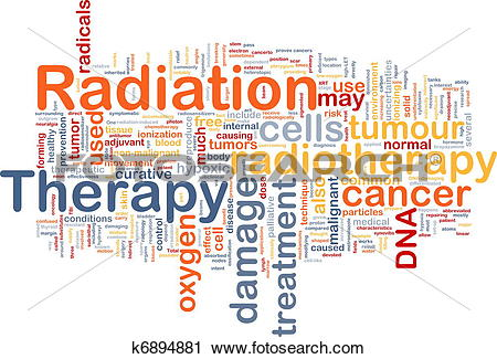 Clipart of Radiation therapy background concept k6894881.