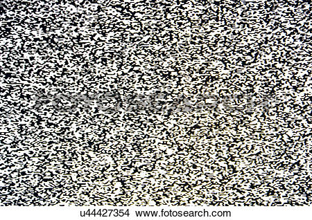 Stock Photo of Cosmic background radiation from the Big Bang on TV.