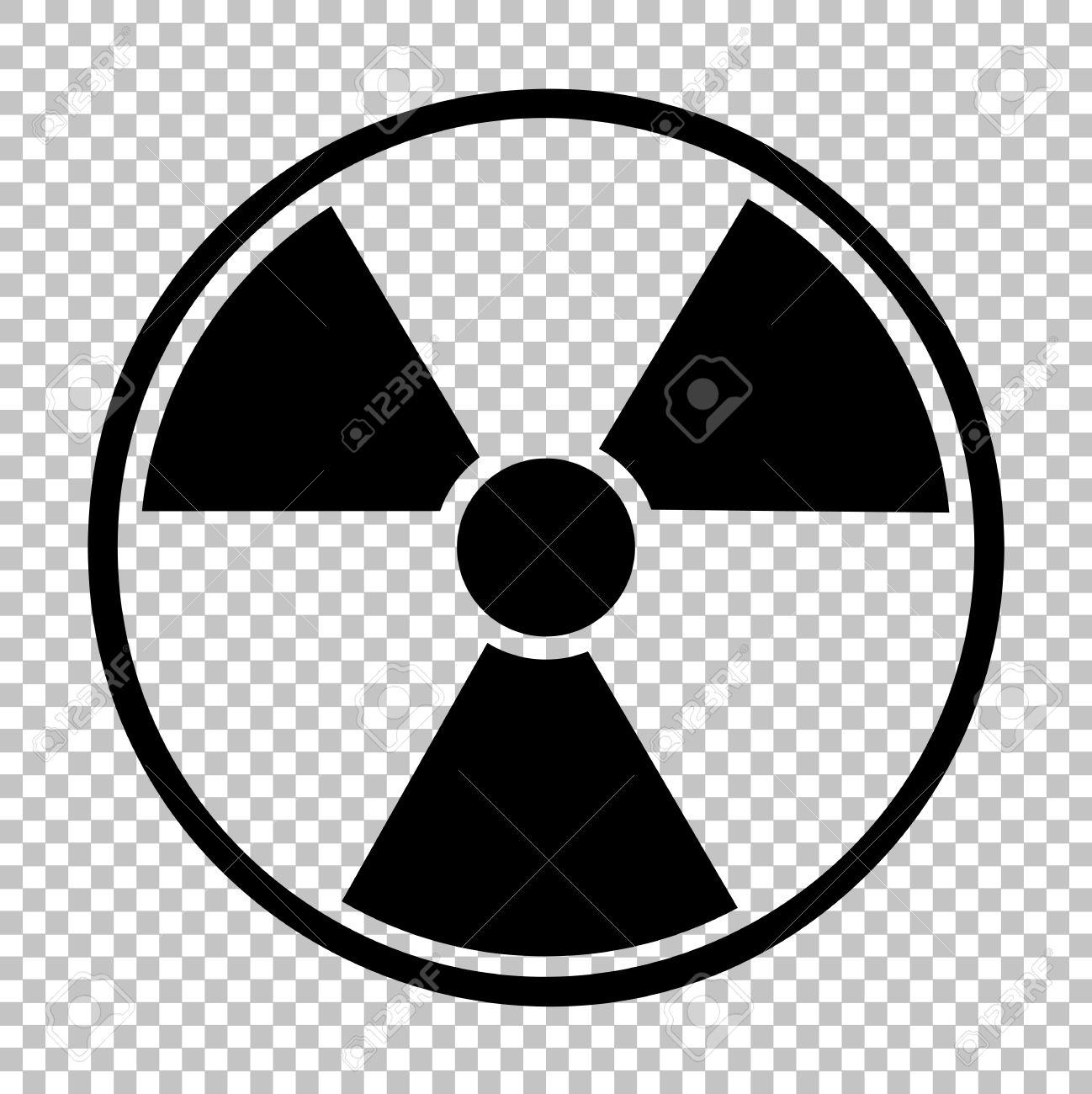 Radiation Round Sign. Flat Style Icon On Transparent Background.