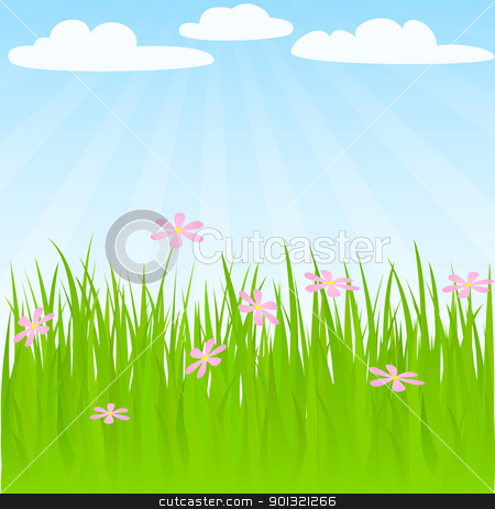Spring background stock vector.