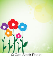 Clip Art Vector of Flowers spring background.
