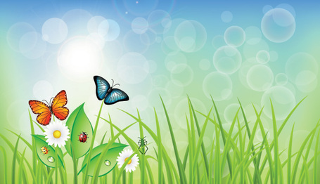 Spring clipart background.