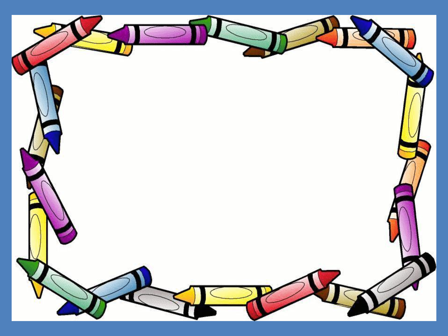 Crayon Border Powerpoint Background Template.