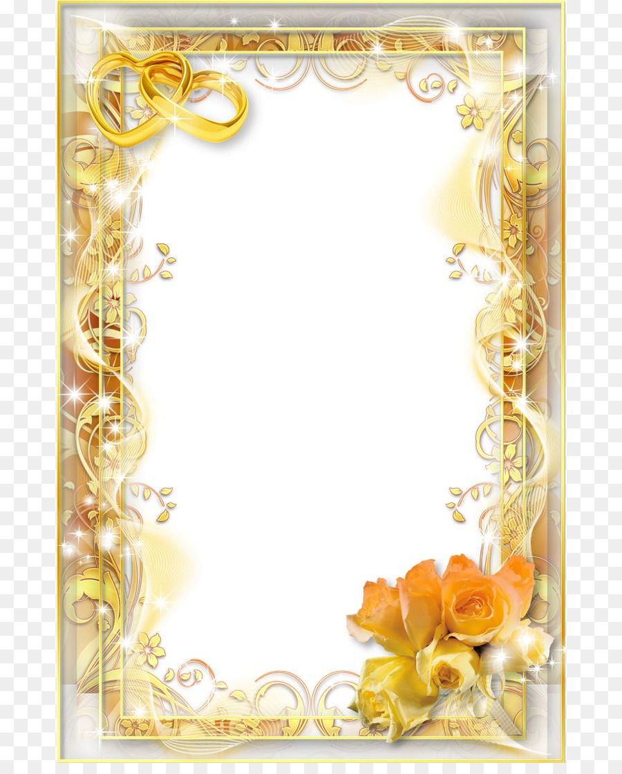 Floral Wedding Invitation Background png download.