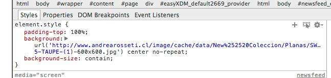CSS background: url, no work when the url have brackets.