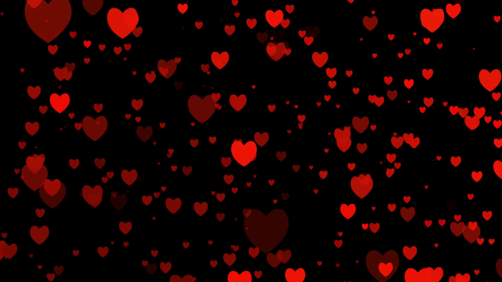 Heart video for valentines day for love appears on black background  animated of your feeling. Alpha channel. Heart animation flat icons with.