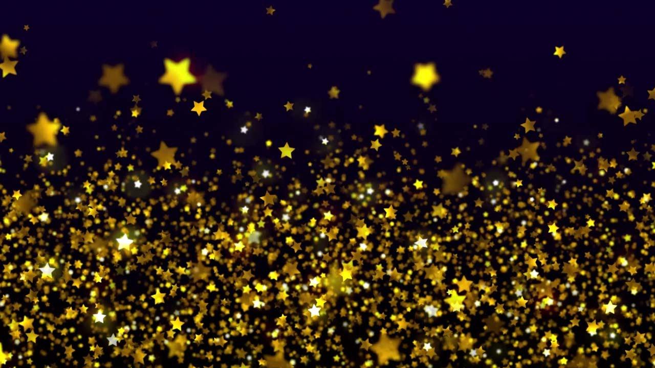 Shimmering Gold Stars.