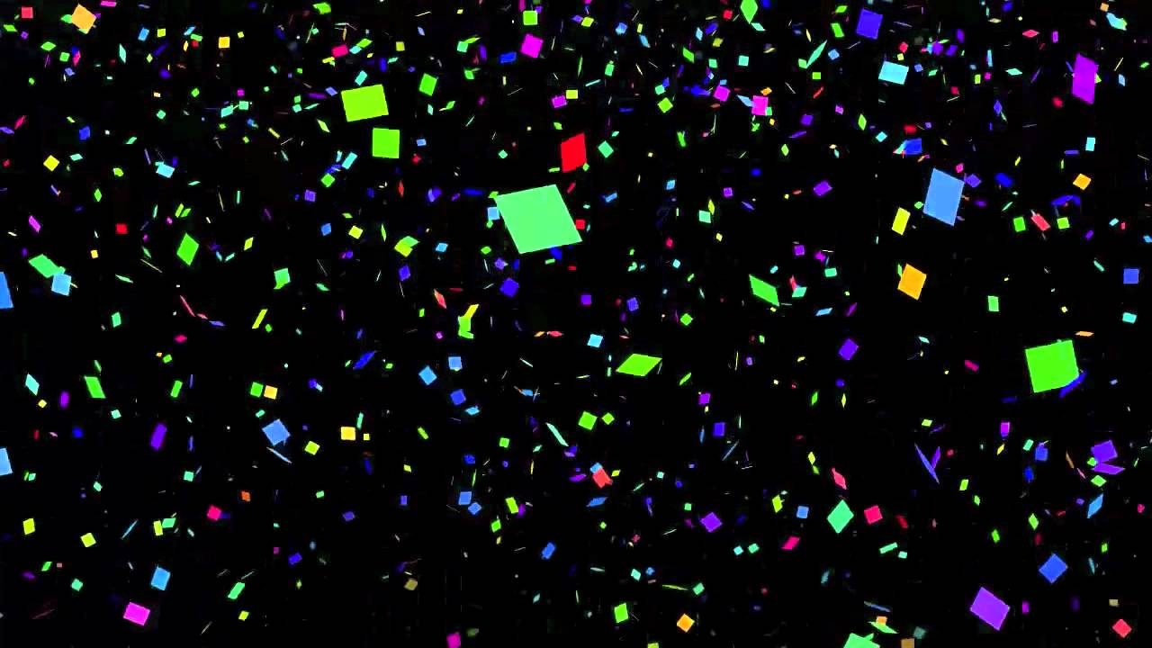 Free Looping Video Background of Confetti for New Years.